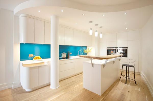 londra usulü beyaz mutfak