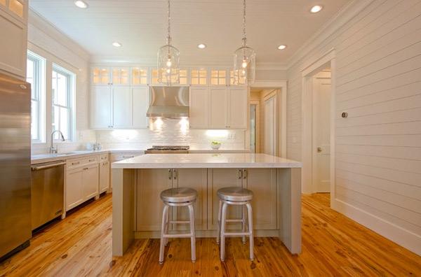 büyük beyaz mutfak