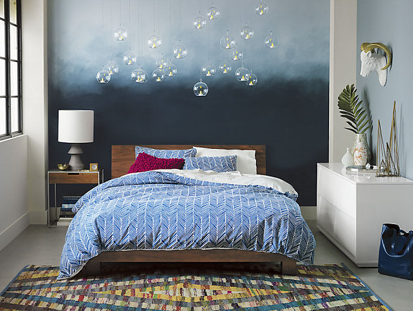 mavi egzotik yatak