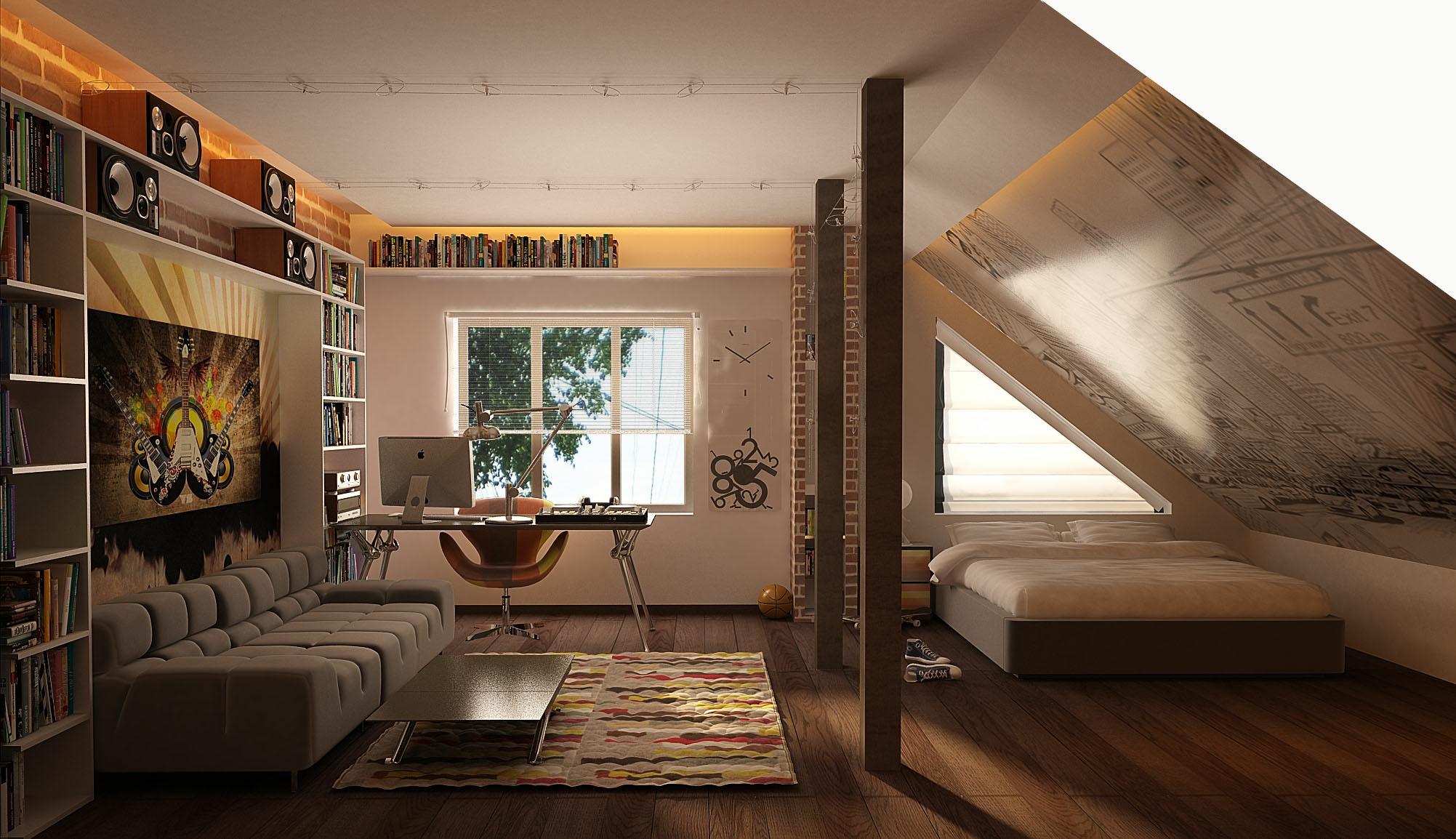 çatı katı genç odası