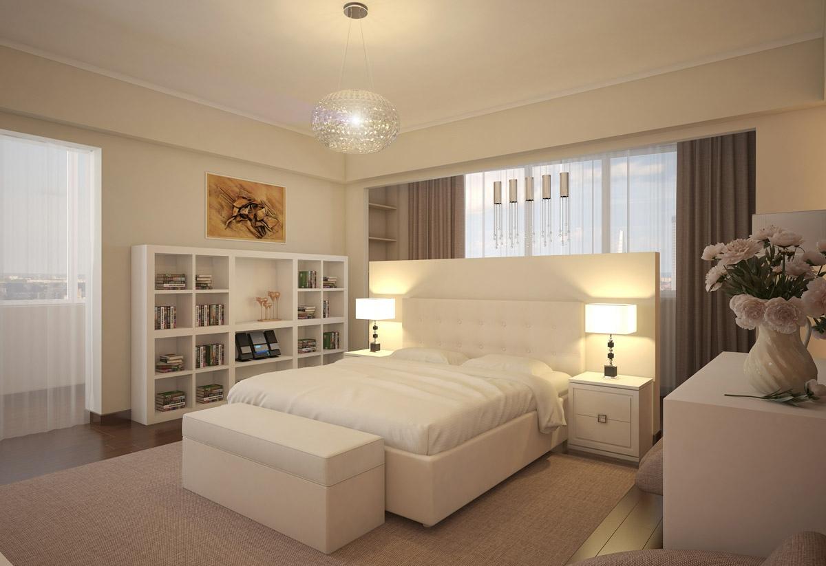 beyaz şık yatak odası