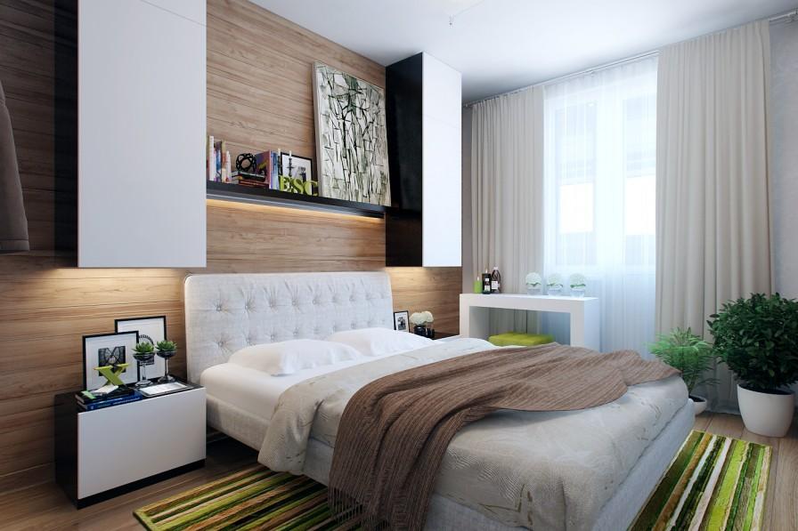 beyaz dolaplı yatak odası