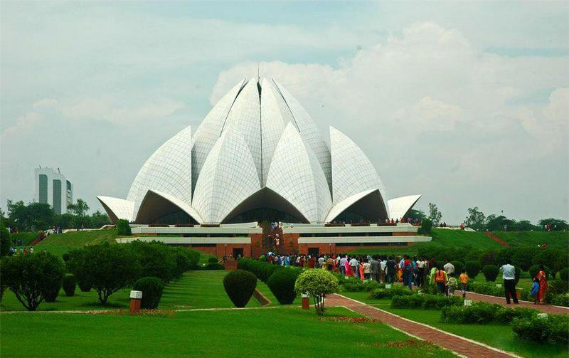 lotus temple - dünyadan enteresan mimariler