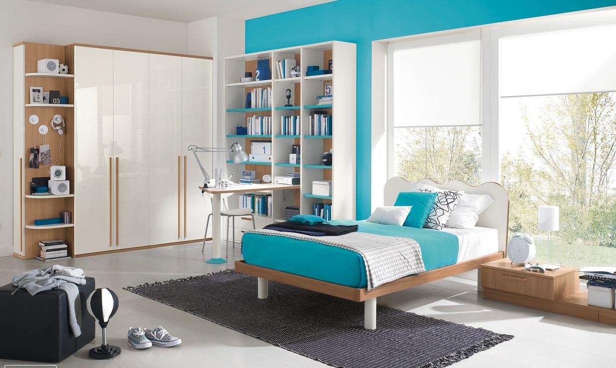 mavi erkek çocuk odası