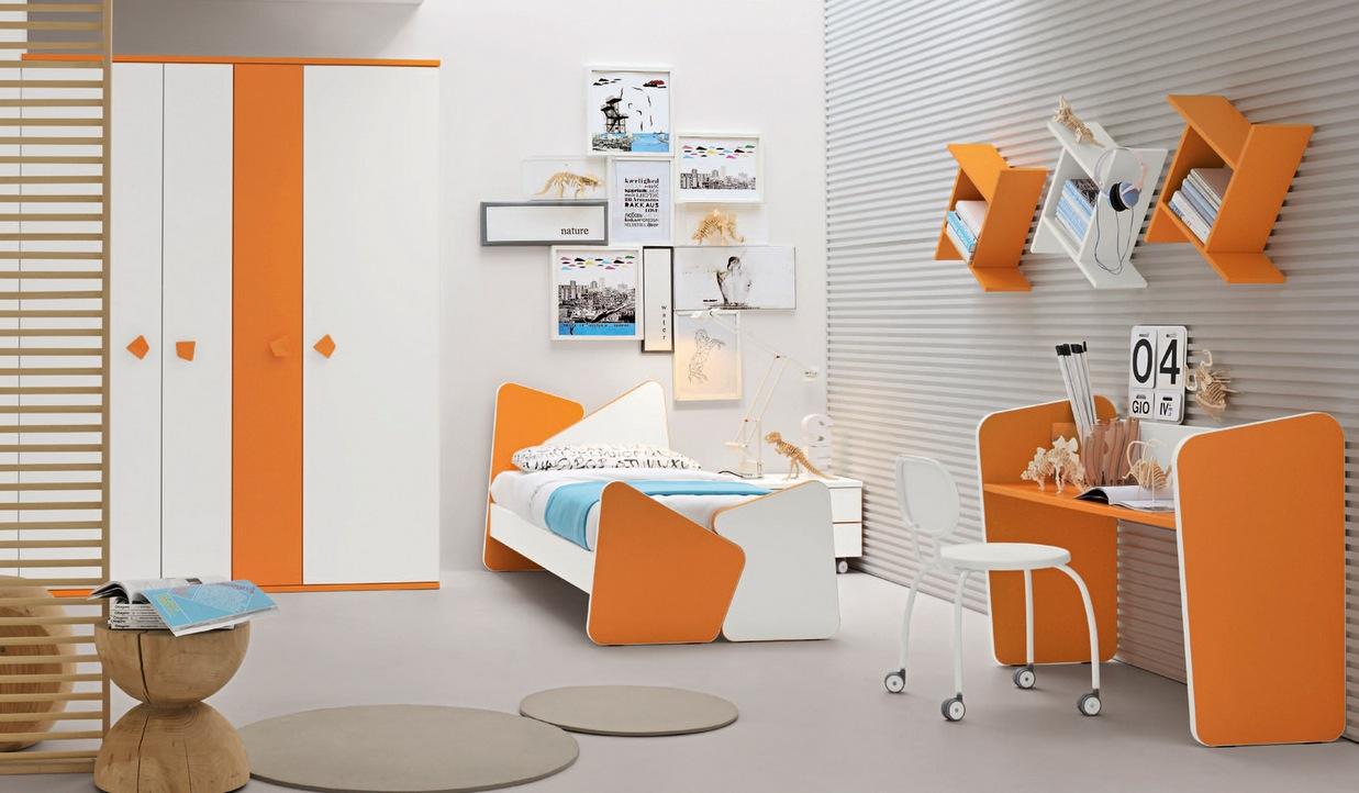 turuncu çocuk odası