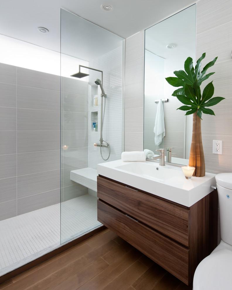 şık duşakabin ve banyo