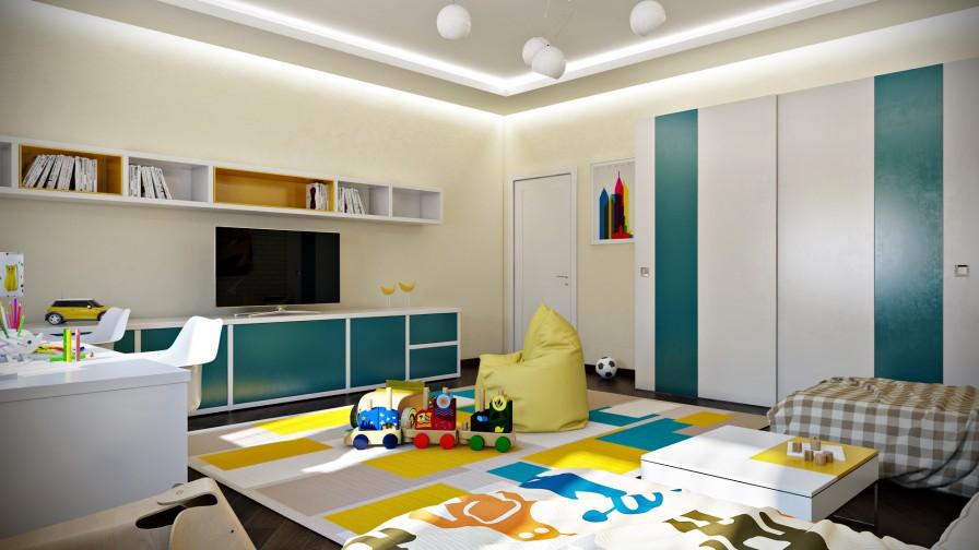eğlenceli çocuk odası