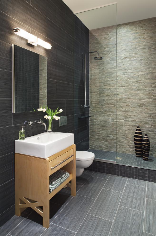 granit taşlı banyo