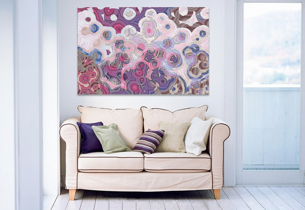 mor ve lila tonlu sanatsal oda