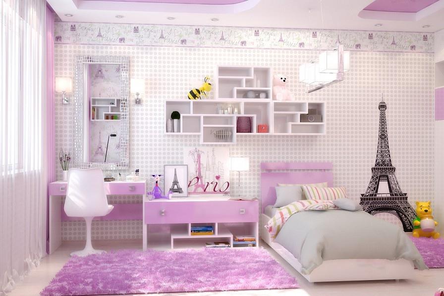 paris temalı çocuk odası
