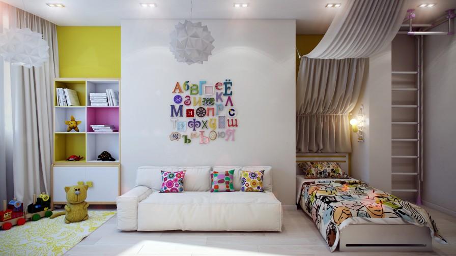 renkli süper çocuk odası