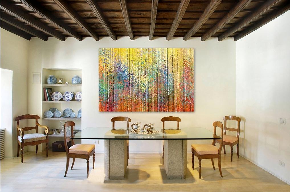sanatsal yemek odası