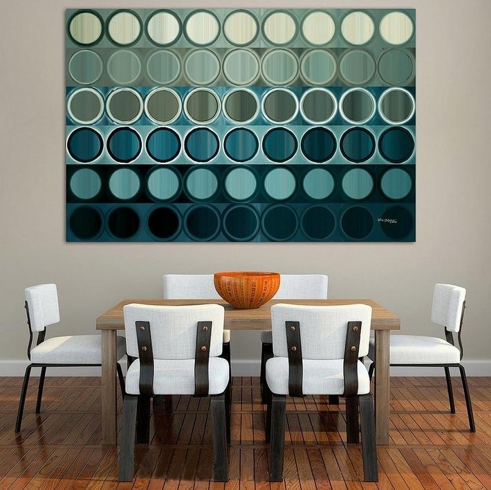 zıt renkli oturma odası