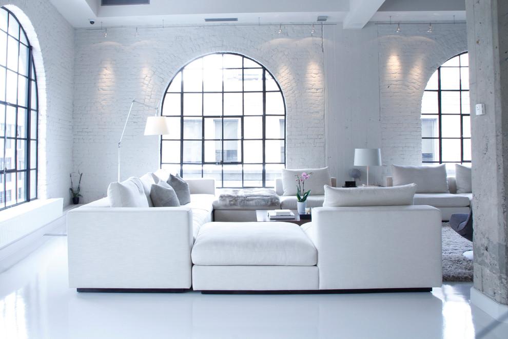 ferah beyaz oturma odası