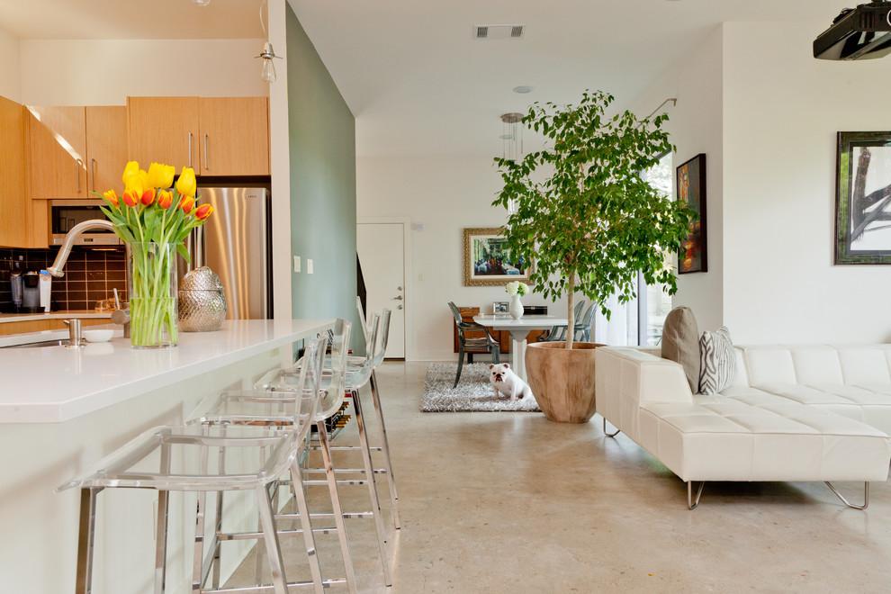 mutfaklı salon