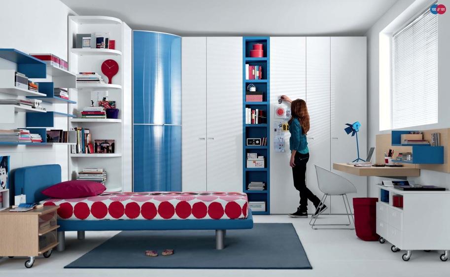 mavi genç kız odası