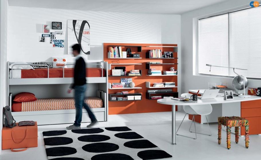 turuncu siyah genç odası