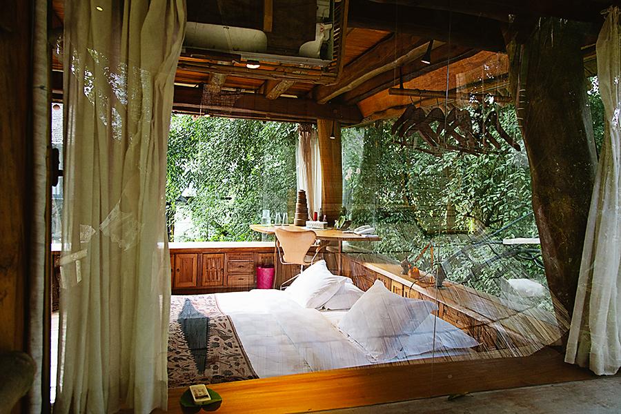 bambu dinlenme odası