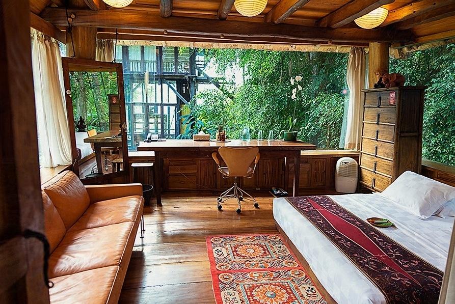 bambu evi çalışma odası