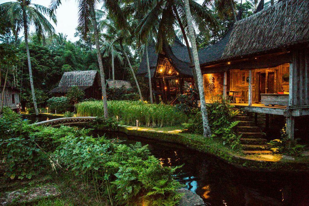 bambu evleri dış görünüm
