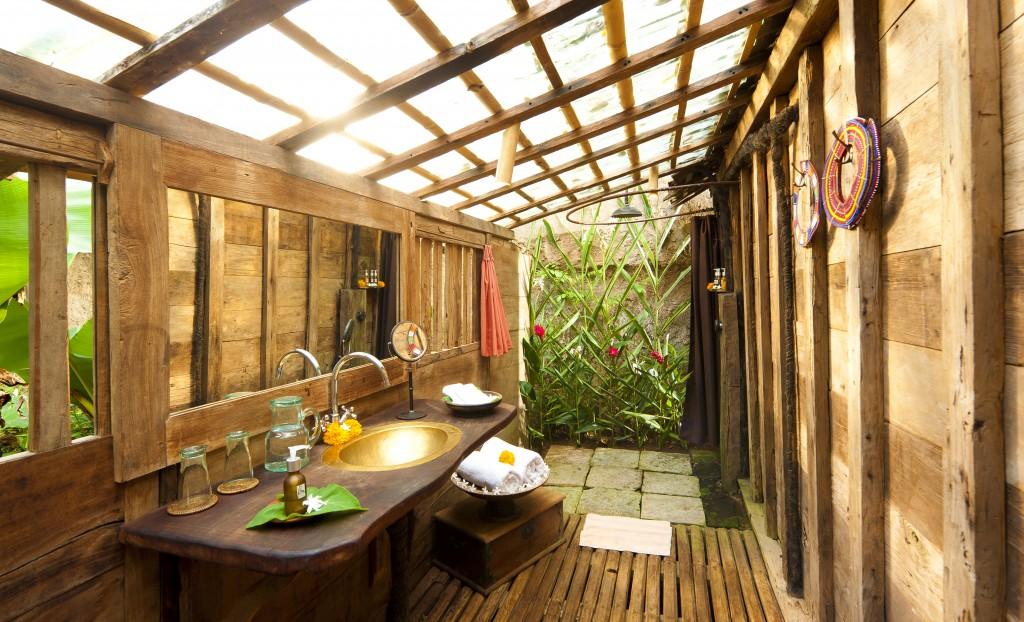 bambu tropikal lavabo