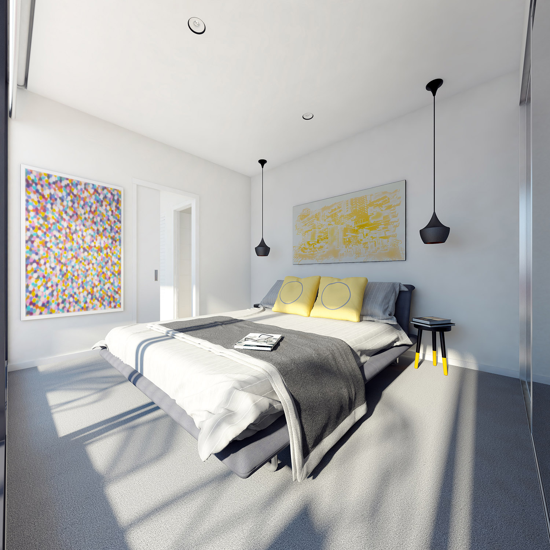 stüdyo daire sanatsal yatak odası