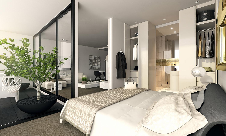 stüdyo daire yatak odası