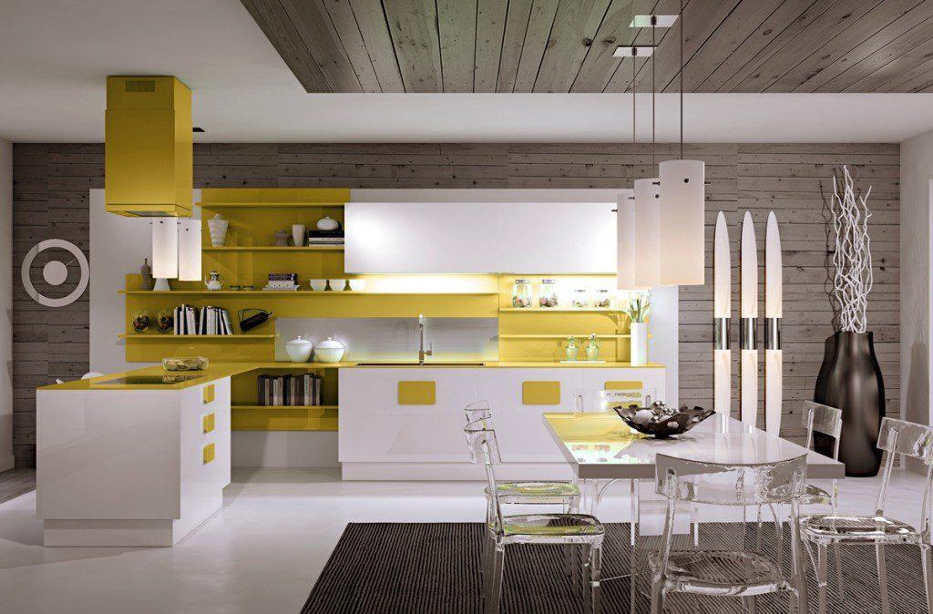 güneş sarısı yemek odası