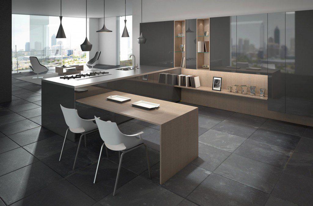 modern ve sade yemek odası