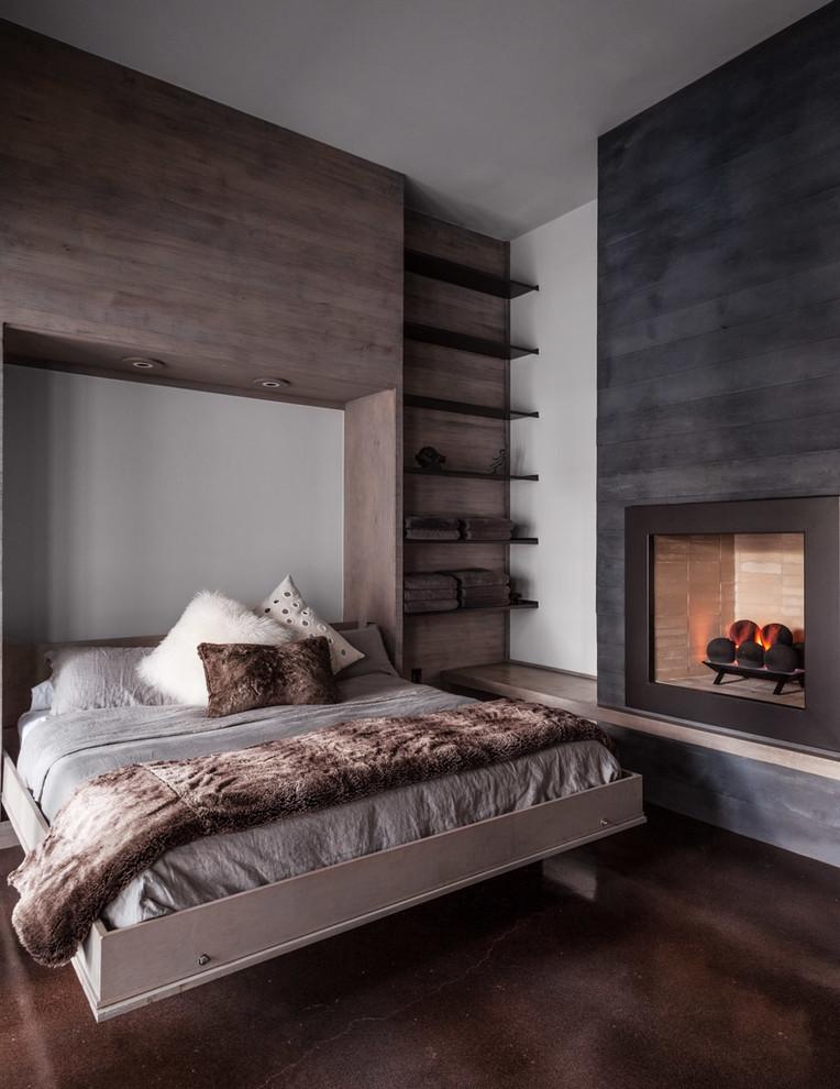 elektrik şömineli yatak odası