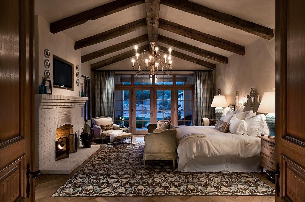 otantik yatak odası resmi