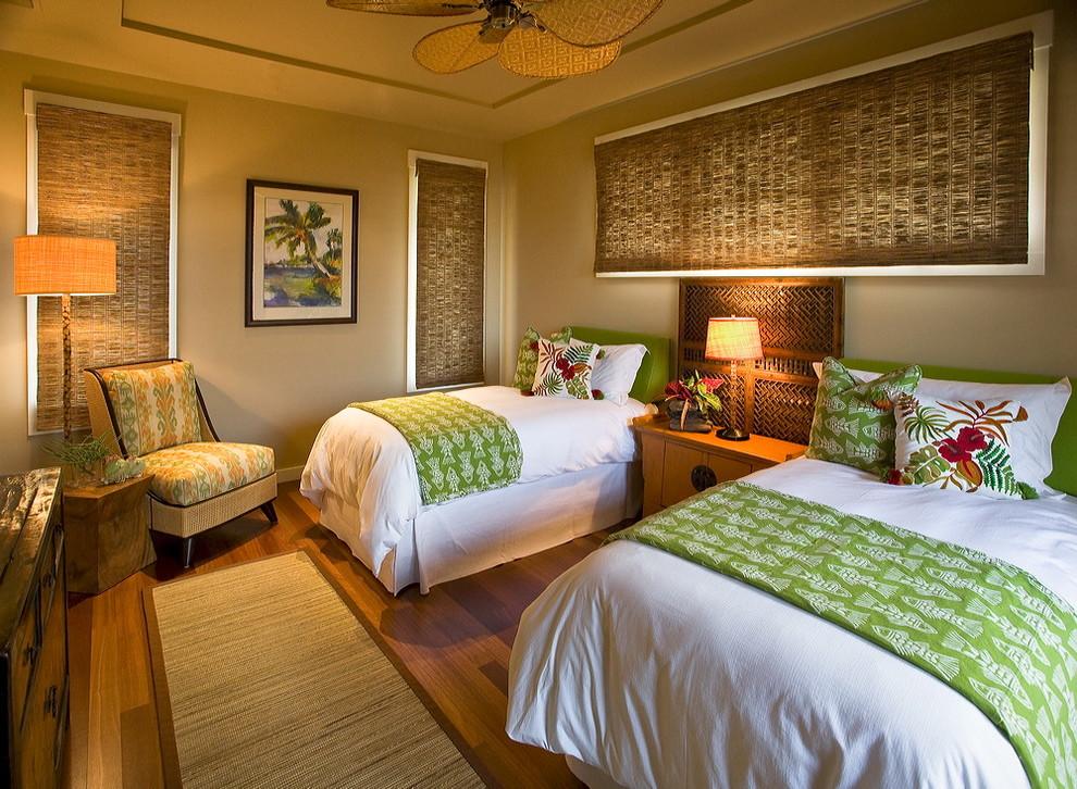 tropikal yatak odası resmi