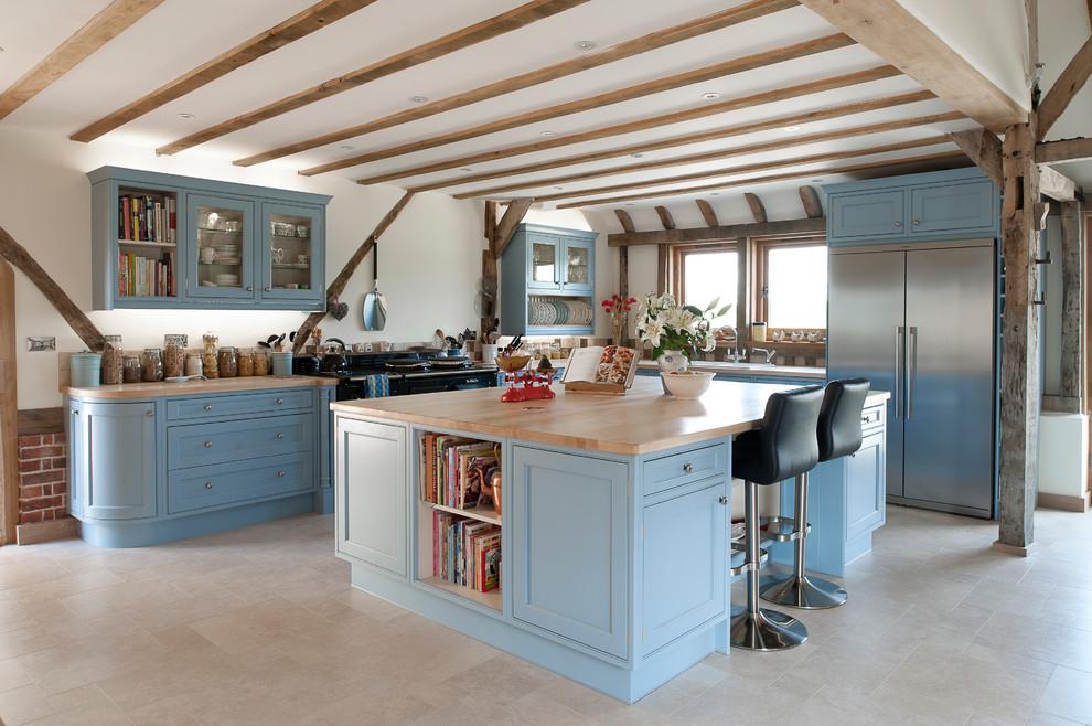 farklı mavi mutfak resmi