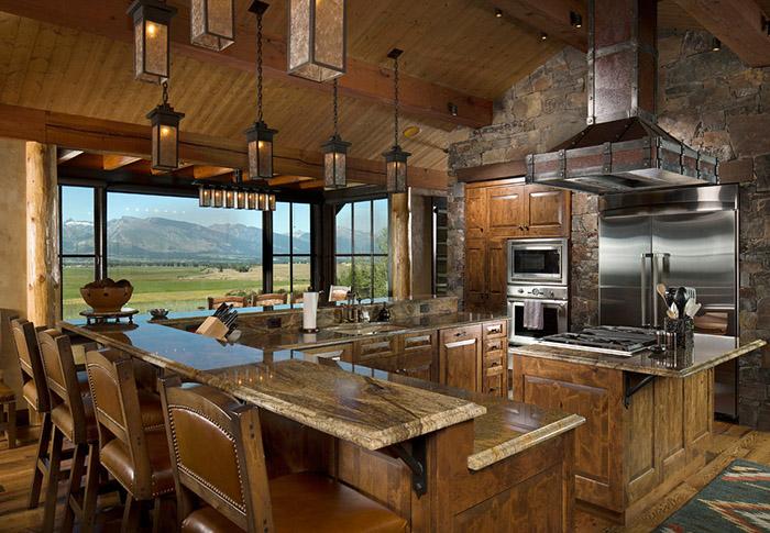 mükemmel rustik mutfak
