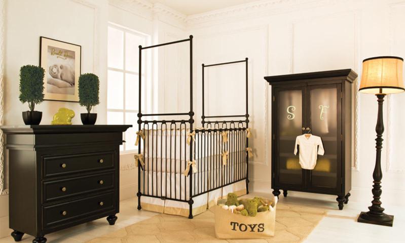 siyah modern bebek odası