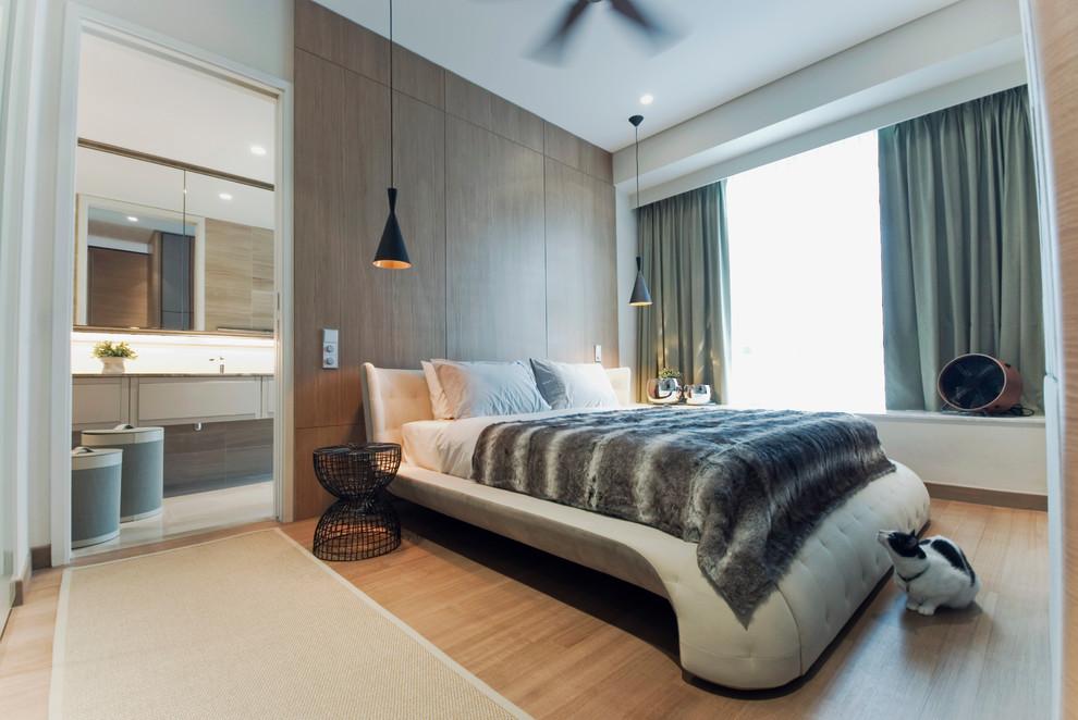çok modern yatak odası