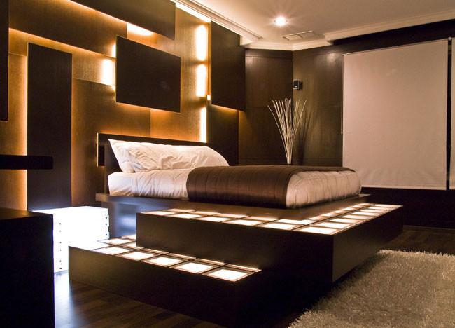 aşırı modern yatak odası