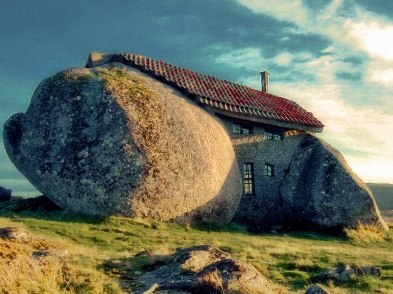 ilginç kaya ev
