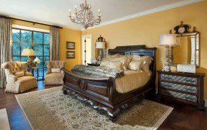 ağaç kaplama yatak odası