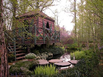 doğa manzaralı ağaç ev
