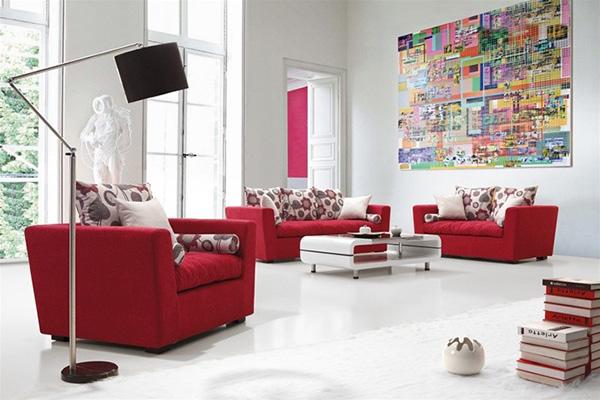 güzel kırmızı koltuk takımı