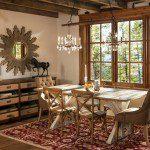 rustik yemek odası takımı