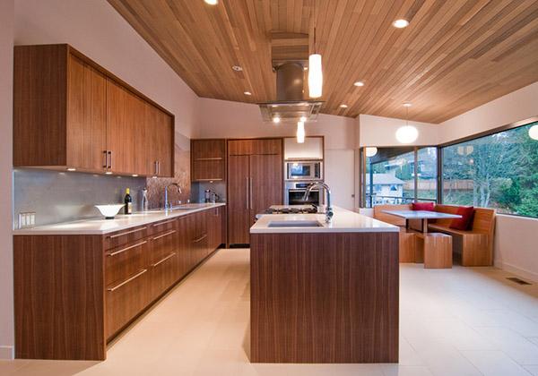 ahşap mutfak tasarımları