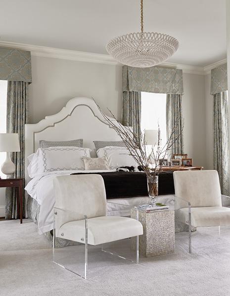 beyaz yatak odası resmi