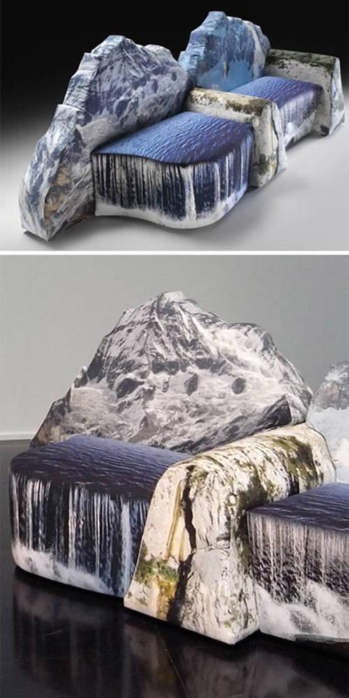 dağ ve şelale kanepe
