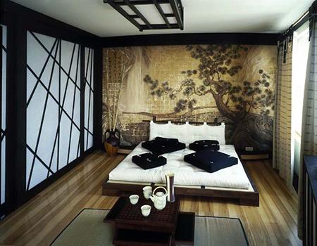 japon yatak odası resmi