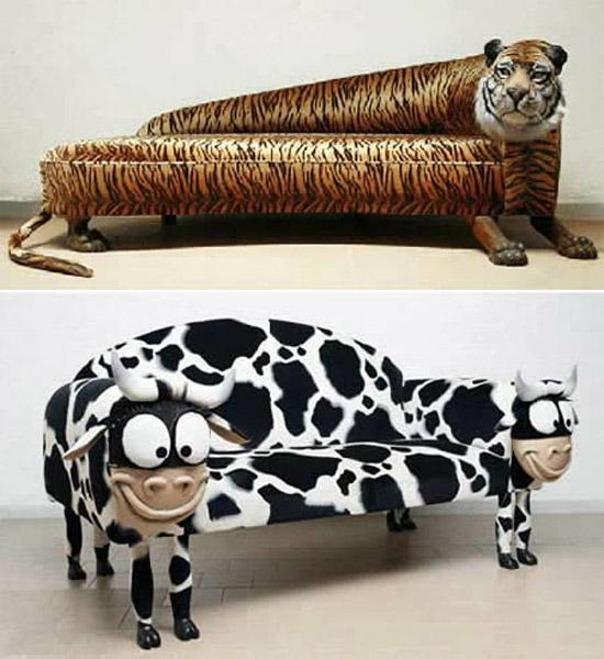 kaplan ve inek kanepeler
