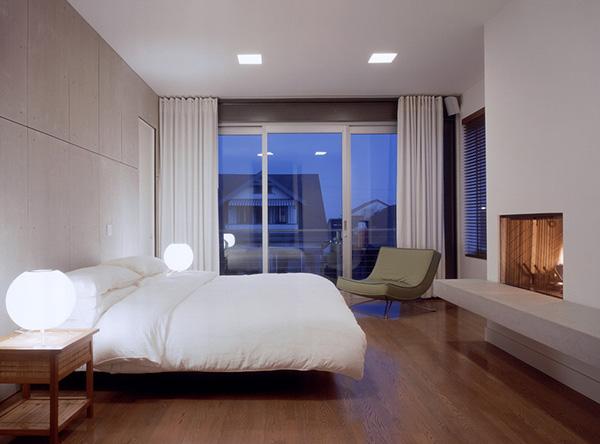 modern yatak odası resmi