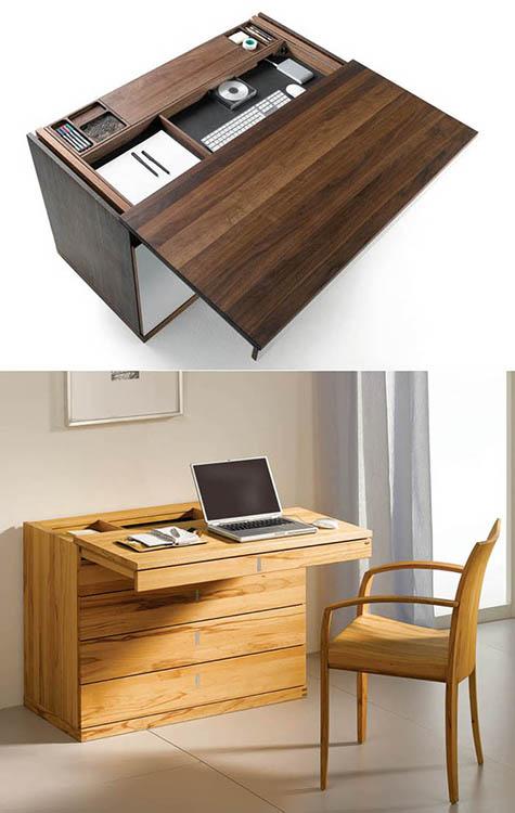 sürgülü ahşap çalışma masası