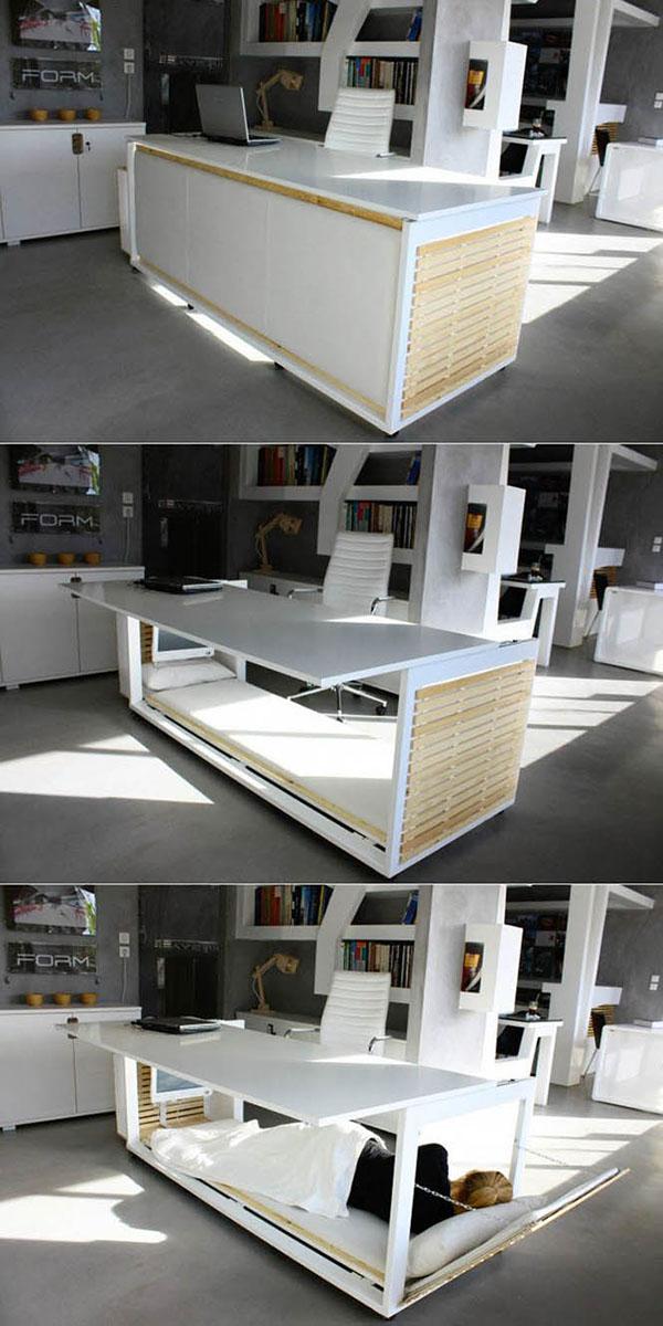 yataklı çalışma masası
